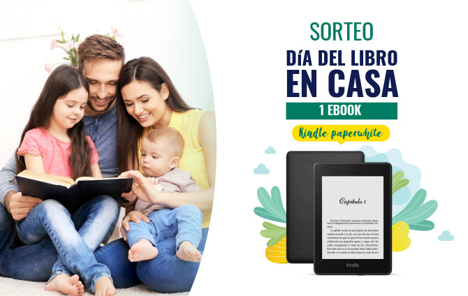 Sorteo Día del Libro – 1 Ebook Kindle Paperwhite